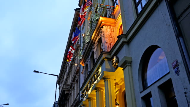 national flags of europe on building in vienna - diplomacy stock videos & royalty-free footage