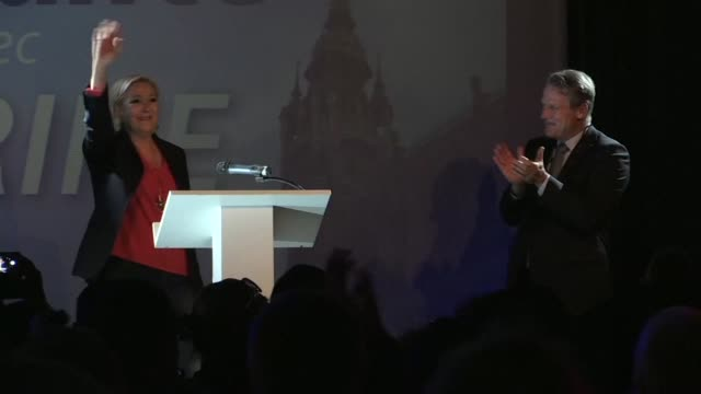 National Front leader Marine Le Pen says her party is not only 'the first but also the only force that is opposed to the politics of Emmanuel Macron...