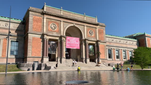 national gallery of denmark, copenhagen - kunst stock videos & royalty-free footage
