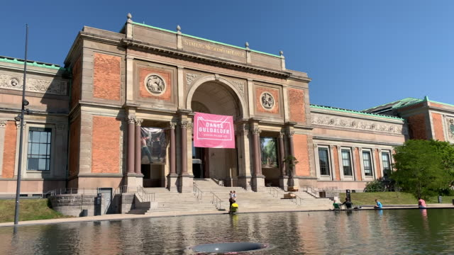 national gallery of denmark, copenhagen - museum stock videos & royalty-free footage
