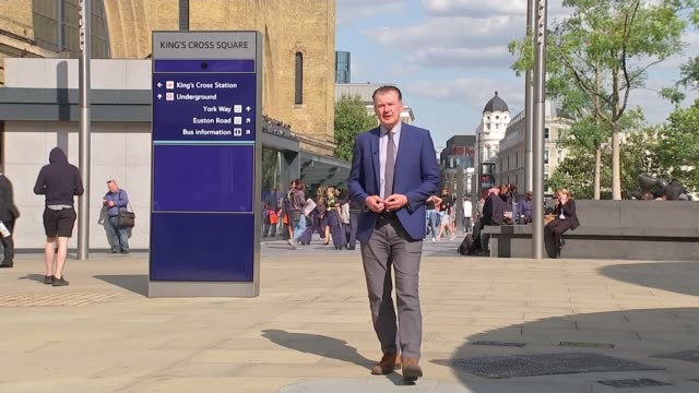 national grid claims lightning strike caused widespread power cut england london kings cross st pancras ext reporter to camera sot - thunderstorm stock videos & royalty-free footage