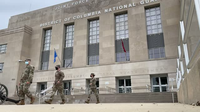 national guard troops make their way to buses as they leave the armory after ending their mission of providing security to the u.s. capitol on may... - leaving stock videos & royalty-free footage