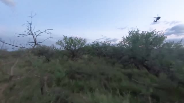 National Guard UH60 Blackhawk helicopters participating in Operation Guardian Support arrived to assist Tucson Sector Border Patrol agents with...