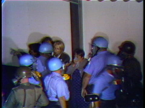 national guardsmen and police confront demonstrators outside the 1968 national democratic convention. - united states and (politics or government) stock videos & royalty-free footage