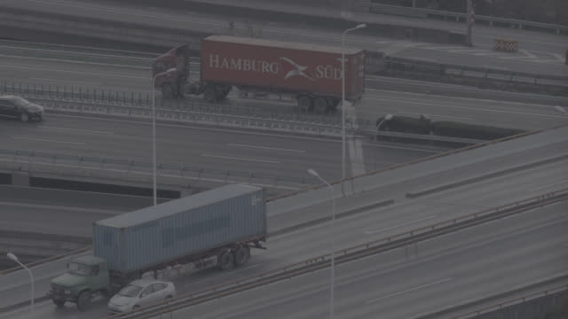 stockvideo's en b-roll-footage met national highway in shanghai - commercieel landvoertuig