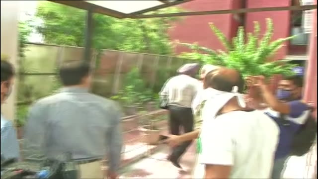 national investigation agency officials coming out of car outside jammu court. long shot of nia officials going inside jammu court amidst huge media... - nia long stock videos & royalty-free footage