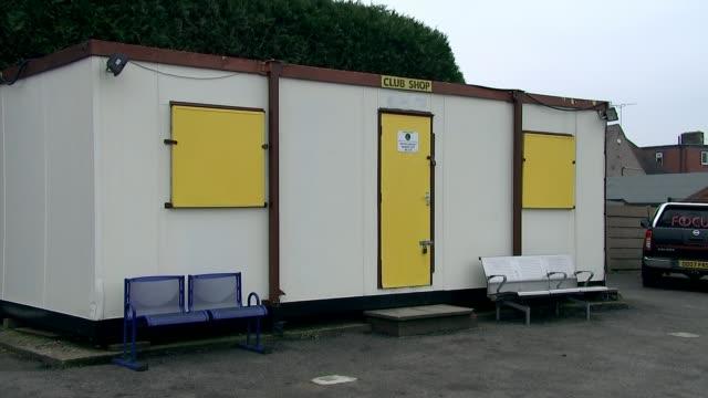 Sutton United reap financial rewards of FA Cup run T27011738 / TX Sutton United 'Club Shop' shed 'Club Shop' sign END LIB