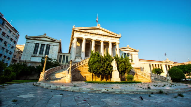 national library, athens - athens greece stock videos & royalty-free footage