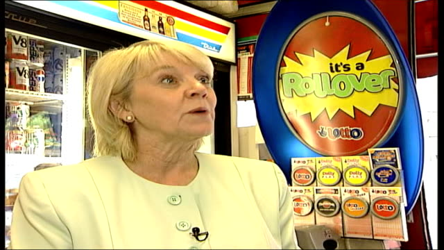 first triple rollover itn england london dianne thompson interview sot could be the largest ever single win on lotto - lottery stock videos and b-roll footage