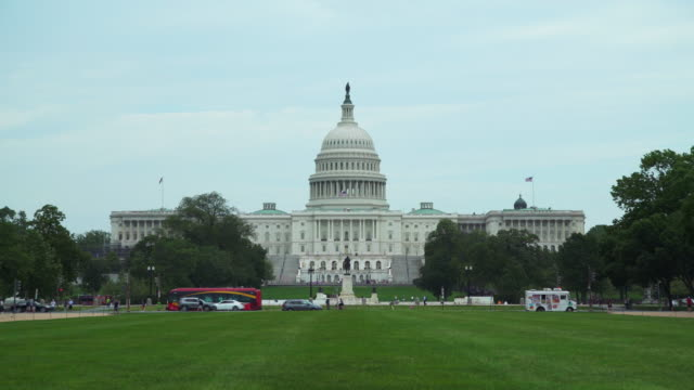 National Mall och United States Capitol Building i Washington DC i 4k/UHD