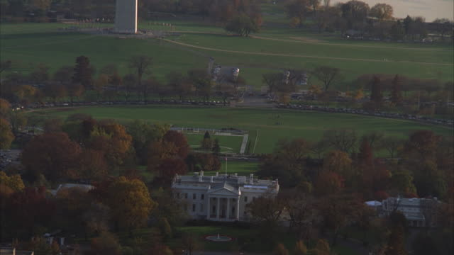 aerial, national mall and white house, washington dc, washington, usa - 1992 stock videos & royalty-free footage