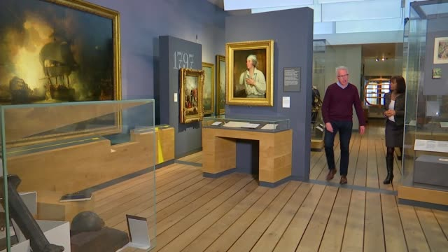 national maritime museum reassessing the image of admiral nelson england london greenwich national maritime museum int paddy rogers speaking as along... - itv london tonight stock videos & royalty-free footage