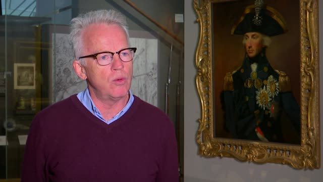 national maritime museum reassessing the image of admiral nelson england london greenwich national maritime museum int paddy rogers set up shots with... - itv london tonight stock videos & royalty-free footage