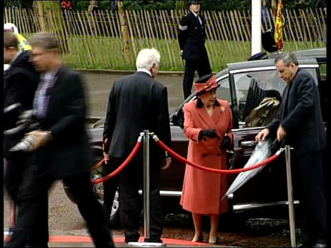 national memorial unveiled for officers killed in the line of duty ceremony england london the mall queen elizabeth ii out of car as greeted by... - cherie charles stock videos & royalty-free footage