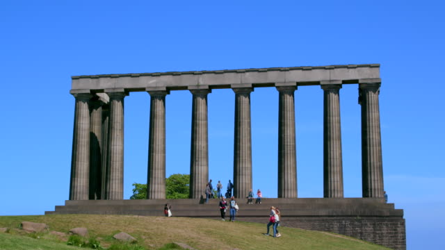 national monument of scotland, calton hill, edinburgh, scotland - calton hill national monument stock videos and b-roll footage