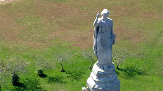 National Monument To the Forefathers  - Aerial View - Massachusetts,  Plymouth County,  United States