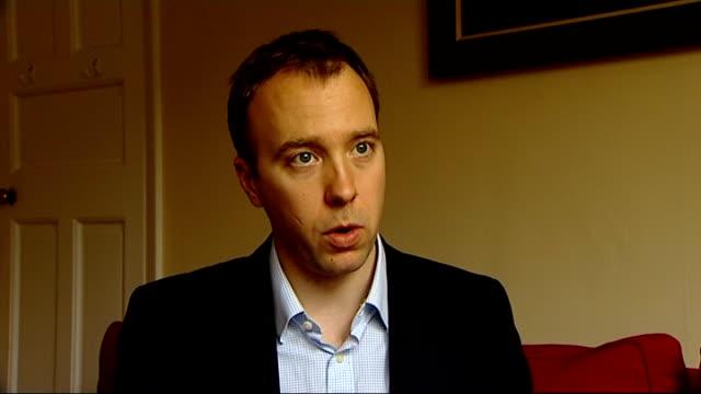 chancellor considering changes england int matthew hancock mp interview sot - ファイサル・イスラム点の映像素材/bロール