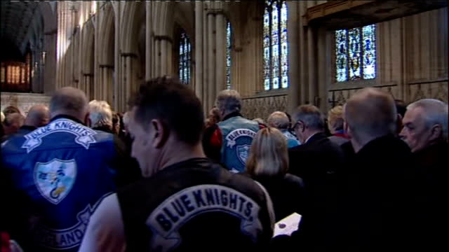 national police memorial day service at york minster england north yorkshire york york minster int various shots of national police memorial day... - north york stock videos & royalty-free footage