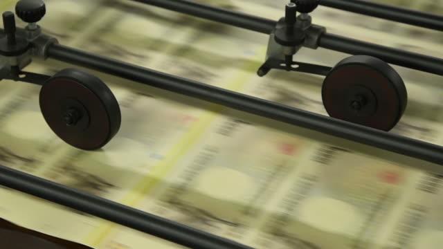 national printing bureau tokyo plant press tour, kita-ku, tokyo, japan, on monday, april 20, 2019. - 造幣機械点の映像素材/bロール