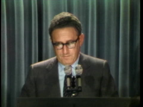 national security adviser dr. henry kissinger says the us will agree on a solution with north vietnam when the time is right. - united states and (politics or government) stock videos & royalty-free footage