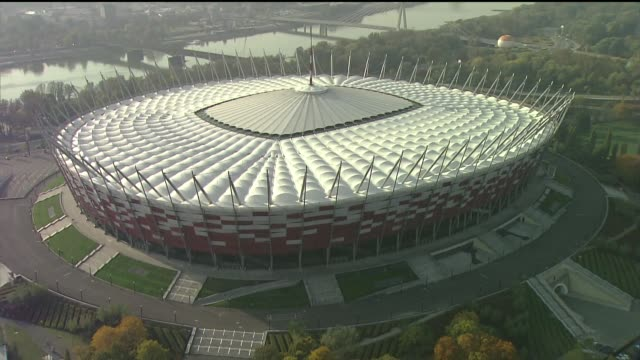 national stadium in warsaw - warsaw stock videos & royalty-free footage