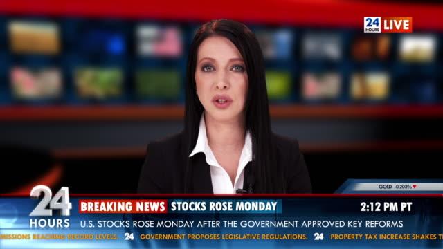 vídeos de stock, filmes e b-roll de hd: a bolsa notícias - programa de televisão