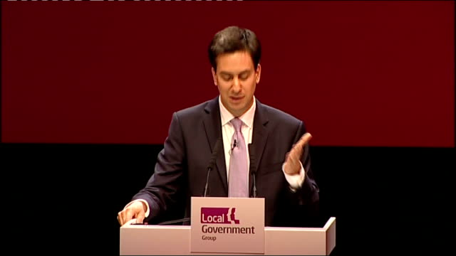 national strike by public sector workers: ed miliband mp speech at lga; ed miliband mp speech sot - then announcing their final position, when... - politics and government stock videos & royalty-free footage