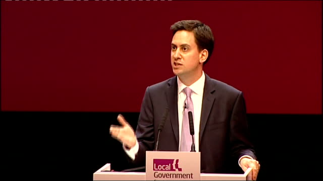 national strike by public sector workers: ed miliband mp speech at lga; england: midlands: birmingham: int speaker introducing ed miliband mp sot ed... - only young men stock videos & royalty-free footage