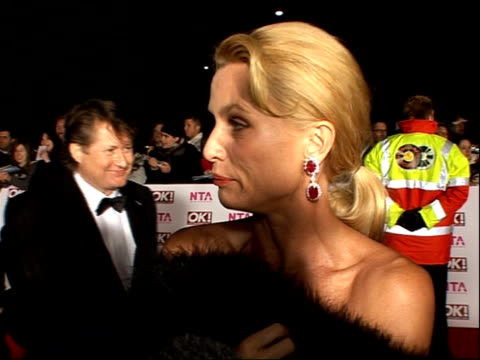 red carpet arrivals and backstage Nicolette Sheridan interview and talking to press SOT