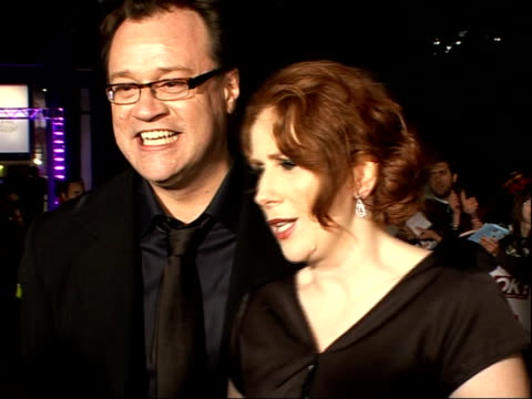 national television awards 2008: red carpet arrivals and backstage; catherine tate and russell t davies arrival together and interview sot - no... - doctor who stock videos & royalty-free footage