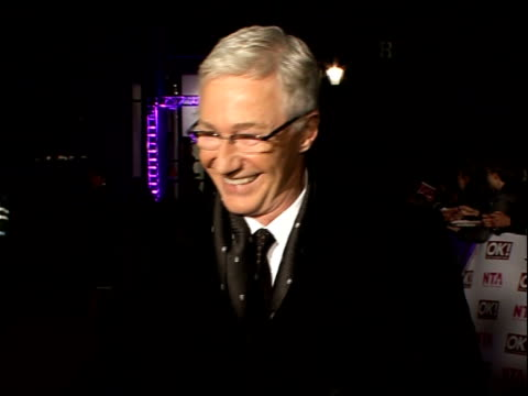 red carpet arrivals and backstage Paul O'Grady arrival and interview SOT/ Alan Sugar arrival and interview SOT