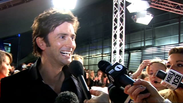 national television awards 2010: celebrity red carpet arrivals and interviews; david tennant interview sot - on presening an award / on jedward -... - big hair stock videos & royalty-free footage