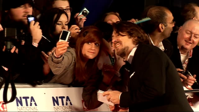 national television awards 2011: interviews; more of lacey turner with fans gvs frank lampard and christine bleakley amongst crowd gvs jonathan ross... - christine bleakley stock videos & royalty-free footage