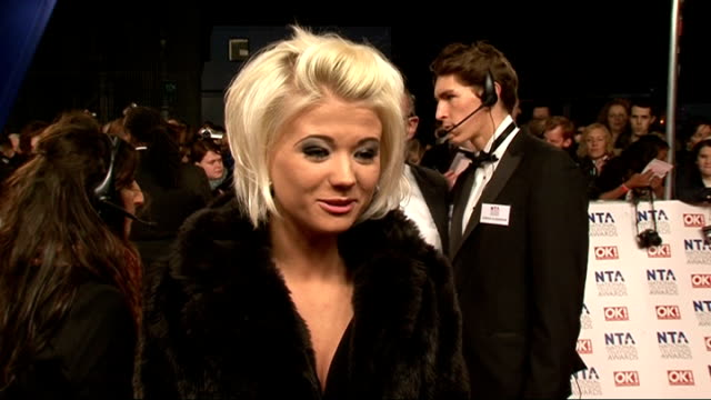 national television awards 2012: red carpet arrivals and celebrity interviews; england: london: ext ** beware flash photography throughout **... - only girls stock videos & royalty-free footage