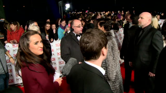 Red carpet Gaz Beadle interview SOT / Kris Jenner interview SOT / Ant Dec speaking to press / Mel B along and posing for photographs with fans /...