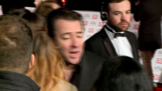 national television awards 2015: red carpet; sandy channer and sandra martin speaking to press / jonathan ross speaking to press / obscured shot of... - lorraine kelly stock videos & royalty-free footage