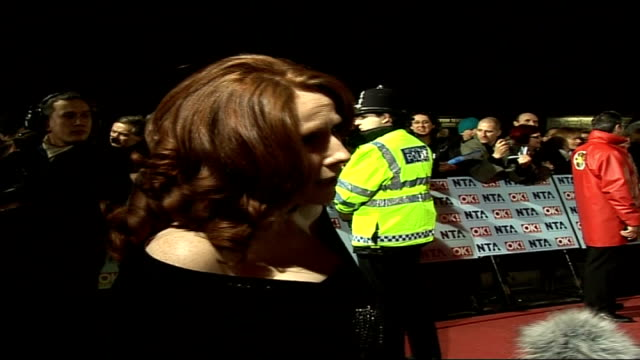 red carpet arrivals and interviews / winners room photocalls and interviews catherine tate along and signing autographs for fans / catherine tate... - doctor who stock videos & royalty-free footage