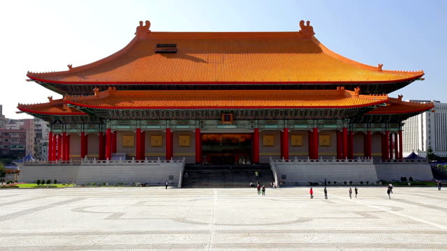 national theater of taiwan - chiang kaishek memorial hall stock videos & royalty-free footage