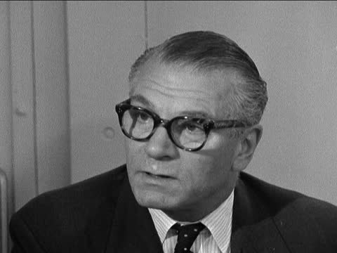 """sir laurence olivier interview; england, london: the national theatre: int sir laurence olivier: sof: """"the whole company will consist of about 50 or... - ローレンス オリビエ点の映像素材/bロール"""