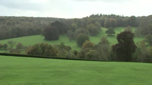 national trust hunting ban: polesden lacey gvs; england: surrey: polesden lacey: ext gvs national trust polesden lacey estate landscape and shop - national trust video stock e b–roll