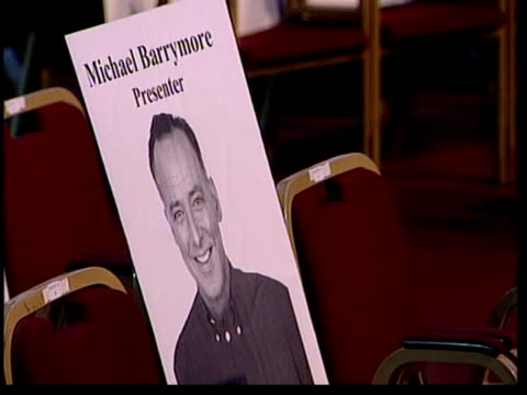 National TV awards ITN CMS Cardboard picture of Barrymore on seat