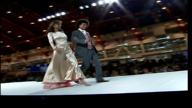 National Wedding Show at Olympia ENGLAND London Olympia National Wedding Show INT * * Sound of music heard over the following shots SOT * * Female...