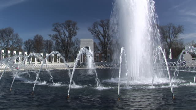 ms, national world war ii memorial, washington dc, washington, usa - war stock-videos und b-roll-filmmaterial