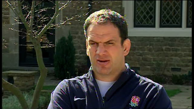 nations championship: johnson interview; england: london: ext martin johnson interview sot - talks of englands performance against france / room for... - performance improvement stock videos & royalty-free footage