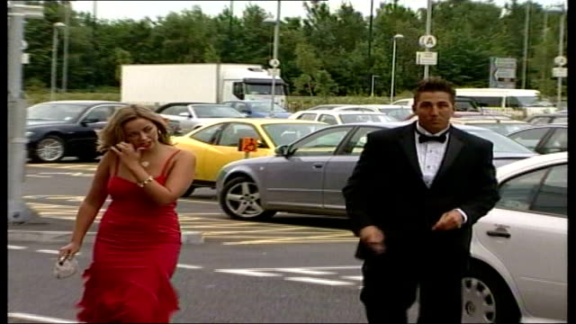 nations championship: wales prepare; date unknown ???: welsh rugby union player gavin henson along with charlotte church - charlotte church stock videos & royalty-free footage