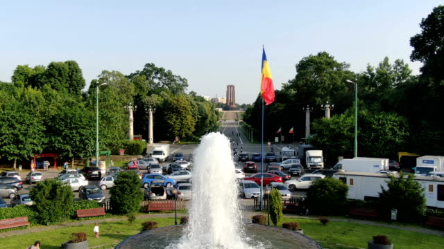 nation's heroes memorial, carol park, bucharest / aerial view - romania stock videos & royalty-free footage