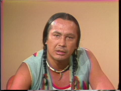 stockvideo's en b-roll-footage met of native american activist russell means speaking about the treatment american indians receive from the government and civil rights. means says i'm... - politics and government