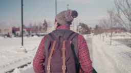 Native American College Student Walking On Campus Stock Footage Video