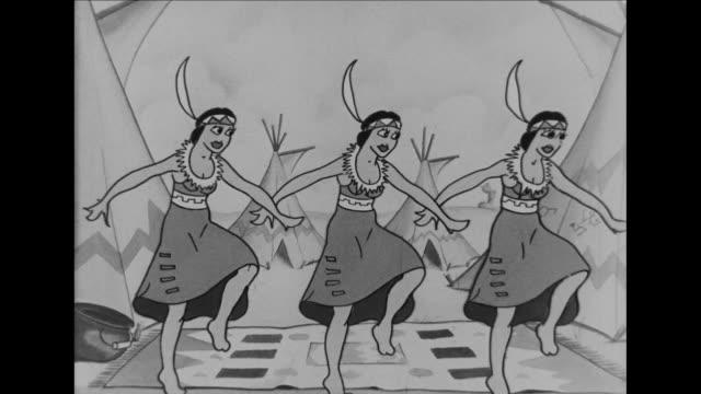 Native American girls dance