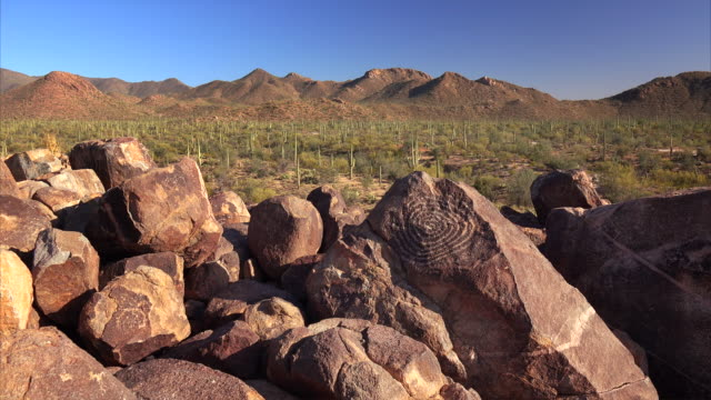 Native American Petroglyphs on Signal Hill in Saguaro National Park